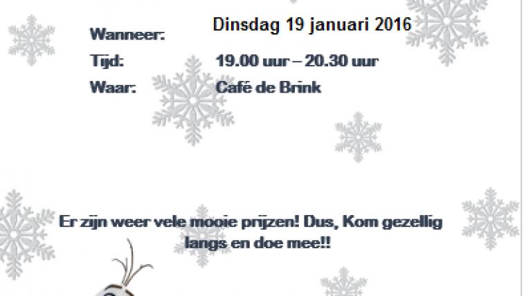Winterbingo a.s dinsdag